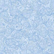 Benartex Hydrangea Blue by Jackie Robinson 3094 50 Blue Butterfly Tonal Cotton
