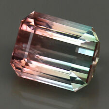 10.94ct.RARE GEMSTONE BI COLOR TOURMALINE CUSHON CUT NATURAL GEMSTONE UNHEATED