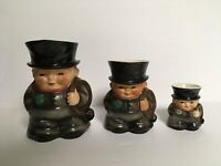 Vintage Goebel Irish Chimney Sweep Creamers w/ Four Leaf Clovers
