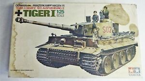Tamiya 1:25 TIGER I German Sd.Kfz. 181 Ausf E Tank - Vintage 1970s Full Interior