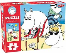 Moomin Beach floor jigsaw puzzle 40x60cm, 35 pieces for younger children.