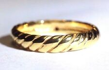Fine NEW Solid 14K Yellow Gold Italy 3mm Rope Style Ring Band Size 10 Hollow