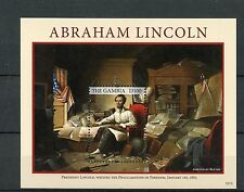 Gambia 2012 MNH Abraham Lincoln Emancipation US Presidents 1v S/S Stamps