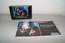 Sega Genesis Mega Drive Batman Returns with manual