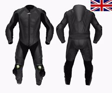 Black MOTOGP Motorcycle Leather Suit Racing Cowhide Leather Suit ONE PIECE 2017