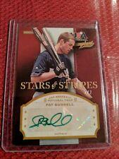 2013 Panini USA Baseball Champions Stars & Stripes Pat Burrell Auto Green...