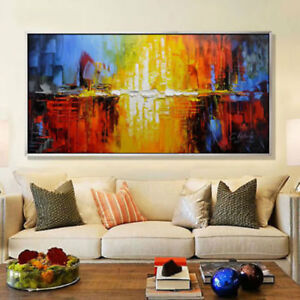 ZOPT12  100% hand-painted Modern Abstract Oil Painting decor Wall art on canvas