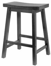 "Winsome Wood 20084 24"" Black Saddle Seat Bar Stool,No 20084,  Winsome Wood"