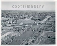 Aerial New York State Barge Canal Mohwak Valley  Press Photo