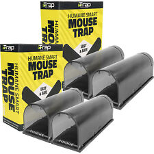 iTrap Humane Live Catch & Release Smart Mouse Trap Safe Around Pets Children x4