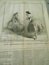 Caricature 1862 - Mars qui approche avec son baril de la bière ou la poudre