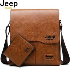 JEEP BULUO Man Messenger Bag 2 Shoulder Bags Business Set Men Leather Crossbody