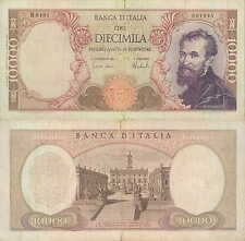"10.000 lire 15/02/1973  ""Michelangelo"""