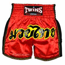 Twins Muay Thai Shorts Tws-911 Red Retro shorts Kickboxing Striking