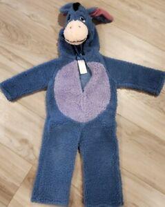 Disney Costume, Eeyore bodysuit ,Attached Eeyore hood,Deluxe Plush, Toddler