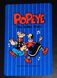 Swap Playing Cards 1 1980's Japanese Nintendo Popeye & Olive A206
