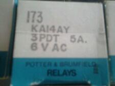 Amf potter & brumfield relay ka14ay 6vac, 5amp, 3pdt, 173