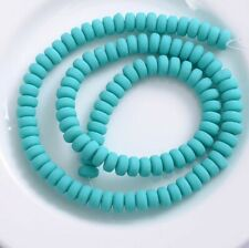 7mm Ellipse Polymer Clay Beads 50 pcs Spacer Loose Beads Bright Pastel Neon