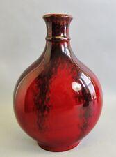 """Fine PAUL MILET 12"""" Sevres French Ox Blood Vase  c. 1900  antique art pottery"""