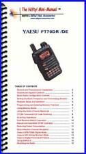 Nifty Accessories Mini-Manual for The Yaesu FT-70DR