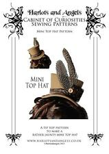 Mini Top Hat Sewing Pattern Steampunk Victorian Gothic. Perfect for costuming