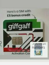 New Giffgaff SIM CARD Nano/Micro/Standard 3 in 1 for Smart Watches Phones fone