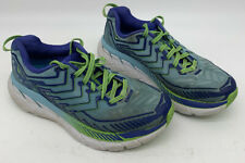 Hoka One One Clifton 4 Blue Green Women's Athletic Shoes Size 7