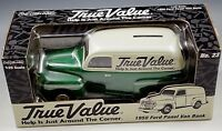 ERTL 1950 FORD PANEL VAN TRUE VALUE COIN BANK DIE CAST NIB 1/25 SCALE