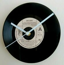 More details for 7 inch record wall clock -bee gees night fever - unique gift