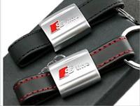 NEW Man Metal Leather Keyfob Belt Strap Keyring Car Keychain Key Bag Ring Chain