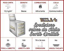 🔥CARTINE RIZLA SILVER GRIGIE ARGENTO CORTE Tipo B 50x10-25-50-100 PACCHETTI BOX