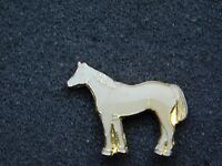 VINTAGE METAL PIN  WHITE HORSE