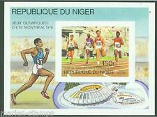 NIGER IMPERFORATED SOUVENIR SHEET 1976  MONTREAL OLYMPICS  SC#C279  MINT NH