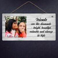 Personalised Friends Hanging Plaque - Metal Sign Gift Friend Custom Diamonds