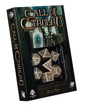 THE ORIGINAL CALL OF CTHULHU DICE SET-WHITE / BLACK-Q-Workshop-Chaosium-neu-new
