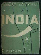 LIBRO ANTICO-GEOGRAFIA-INDIA-ILLUSTRATO-GARZANTI-1942