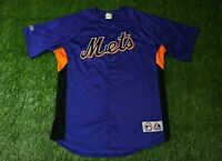 NEW YORK METS USA #57 SANTANA BASEBALL MLB JERSEY SHIRT MAJESTIC ORIGINAL SIZE L