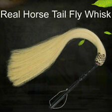 Buddhist Taoist REAL Horse Tail Fly Whisk Swatter TV prop Martial Arts Horsetail