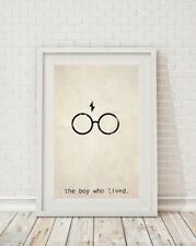 Harry Potter The Boy Who Lived Minimalist Art Print Poster