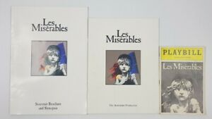 3 Les Miserables Musical Theatre Programs Broadway Playbill Souvenir Brochure