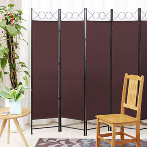 6-Panel 8x6ft Vintage Folding Room Divider Partition Privacy Screen Separator