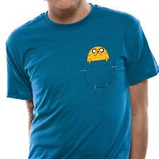 Adventure Time-Jake Bolsillo Camiseta Talla: L-Nuevo Y Oficial