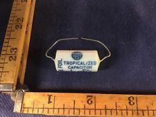 Vintage NOS tropicalized  .1 mF 600V Thorotest Capacitor oil porcelain sealed