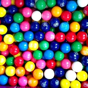 """6  Lbs Of 1"""" / 24 mm Dubble Bubble Assorted Gumballs  330 X .25 = $82.50 Value"""