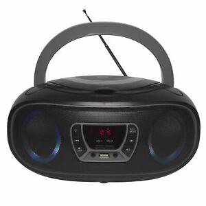 CD-Player mit Discolicht Radio USB Bluetooth MP3 AUX Denver TCL-212BT GREY