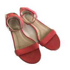 J.crew Strappy Red Sandals Size 9.5 Flaw