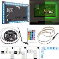 RGB LED Strip Light Tape 5050 DC5V USB Cable LED Strip 1/2M DIY HDTV TV + Remote