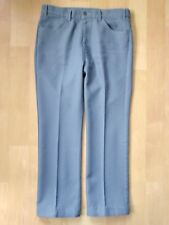 Vtg 70s Levi's Granite Gray Polyester Knit Pants Disco Jeans Black Gold Tag 36