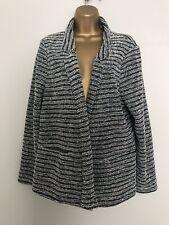 George Striped Medium Knit Cardigan Coat Jacket Size 18