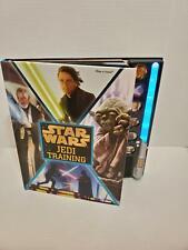 Star Wars Jedi Training Book Light Saber Sound Yoda Vader Skywalker Obiwan